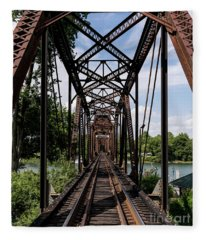 Railroad Bridge 6th Street Augusta Ga 1 Fleece Blanket