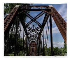 Railroad Bridge 6th Street Augusta Ga 2 Fleece Blanket
