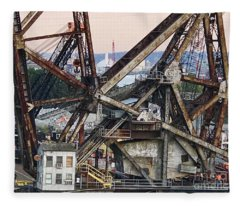 Railroad Bridge Fleece Blanket