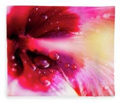 Rain Flower Fleece Blanket