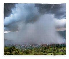 Rain Storm Over Medellin Fleece Blanket