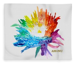 Rainbow Chrysanthemum Fleece Blanket