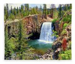 Rainbow Falls Panoramic Fleece Blanket