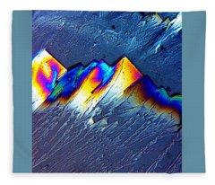 Rainbow Mountains Fleece Blanket