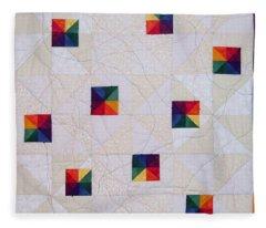 Rainbow Pinwheel Fleece Blanket