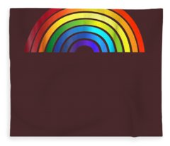 Rainbow T-shirt Simple Style Basic Glossy Stripe Design Fleece Blanket