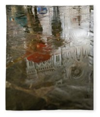 Raining Evening In Florence Italy Fleece Blanket