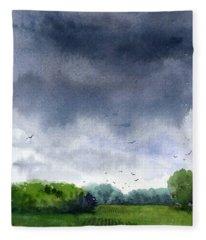 Rains Coming Fleece Blanket