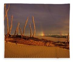 Rainy Day Dunes Fleece Blanket