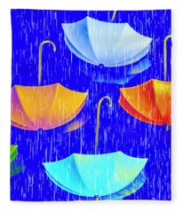 Rainy Day Parade Fleece Blanket
