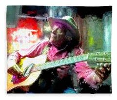 Ramblin Jack Elliott Fleece Blanket