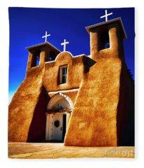 Ranchos Church  Xxxii Fleece Blanket