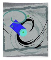 Randomness Variations 5, On Paper Montage Fleece Blanket