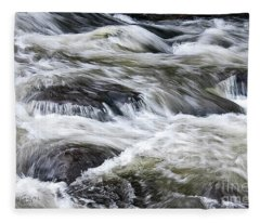 Rapids At Satans Kingdom Fleece Blanket