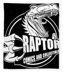 Raptor Comics Black Fleece Blanket
