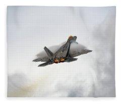 Raptor In A Stormy Sky Fleece Blanket