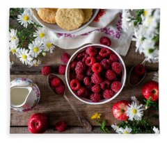 Raspberry Breakfast Fleece Blanket