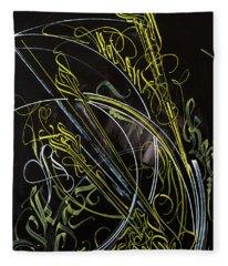Rays Of The Sun. Calligraphic Abstract Fleece Blanket