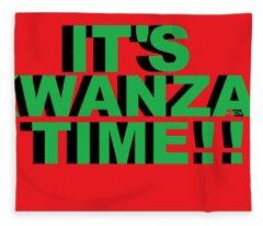 Rbg Kwanzaa Fleece Blanket