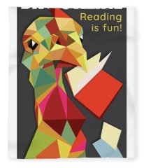 Reading Is Fun Fleece Blanket