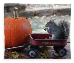 Ready To Ride My Little Red Wagon Fleece Blanket