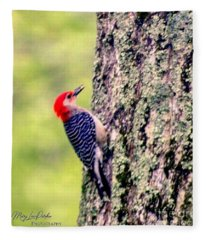 Red Belly Woodpecker  Fleece Blanket