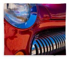 Red Car Chrome Grill Fleece Blanket