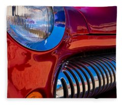 Red Car Chrome Grill Fleece Blanket