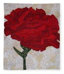 Red Carnation Fleece Blanket