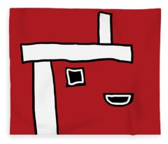 Red Crispr Crooked Edge Fleece Blanket