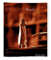Red Definition Of Beauty Fleece Blanket