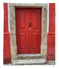 Red Door Nine Of Obidos Fleece Blanket