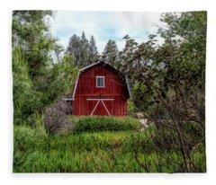 Red House Over Yonder Fleece Blanket