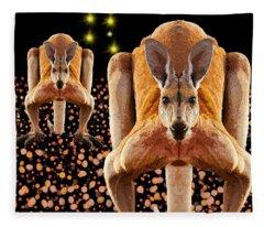 Red Kangaroos Fleece Blanket