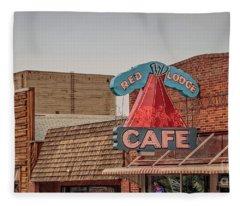 Red Lodge Cafe Montana Fleece Blanket