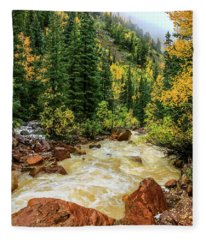 Red Mountain Creek In San Juan Mountains Fleece Blanket