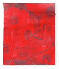 Fleece Blanket featuring the painting Red Poppies by Jocelyn Friis