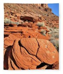 Red Rock Beauty Near Moab Utah Fleece Blanket