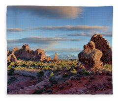 Red Rock Formations Arches National Park  Fleece Blanket