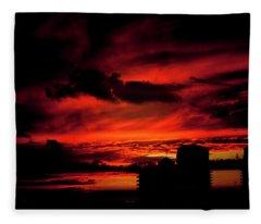 Red Sky Fleece Blanket