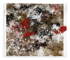 Red Splashes Fleece Blanket