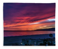 Red Velvet Over Malibu Fleece Blanket