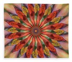 Red Velvet Quillineum Fleece Blanket