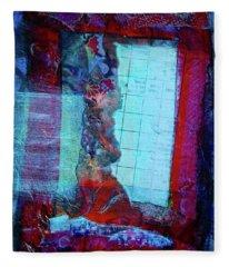 Red Window Fleece Blanket