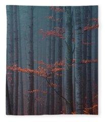 Red Wood Fleece Blanket