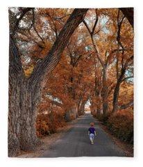 Redhead Fall Walkabout Fleece Blanket