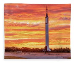 Redstone At Dawn Fleece Blanket