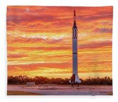Redstone At Dawn Fleece Blanket