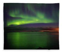 Reflected Aurora Fleece Blanket