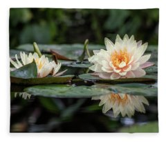 Delicate Reflections Fleece Blanket